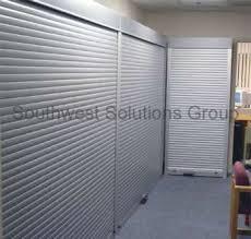 Roll Door Cabinet Rolling Tambour Security Locking Doors Roll Up Lockable Shelving