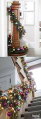 Christmas Banister Garland Ideas 560 Best Christmas Stair Decor Images On Pinterest Christmas
