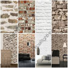 muriva brick effect wallpaper various colours available feature