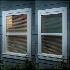 Venetian Blinds Inside Or Outside Recess 1 Inch Faux Wood Blinds Blinds Com