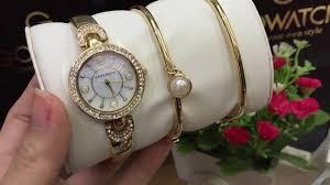 anne klein bracelet gold images Anne klein women 39 s ak 1960gbst swarovski crystal accented gold jpg