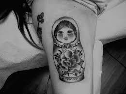 swallow lady bug and sugar skull matryoshka tattoo shet photos