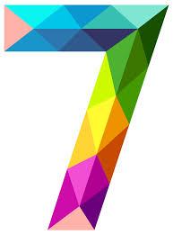 colourful triangles number seven png clipart image gallery