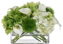 Lily Bouquet Blooms Hydrangea And Calla Lily Bouquet Transitional