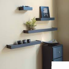 Mainstays 3 Shelf Bookcase White by Set Of 3 Black Wall Shelves