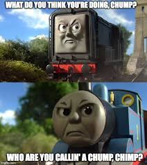 Thomas The Tank Engine Meme - diesel vs thomas meme by railtoonbronyfan3751 on deviantart