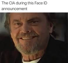 Meme Moustache - the cia during this face id announcement funny memes daily lol pics