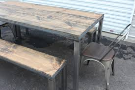 rickety swank industrial farm tables event rentals party