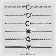 ornamental lines vector free