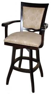 Wooden Swivel Bar Stool Swivel Bar Stools With Back And Arms