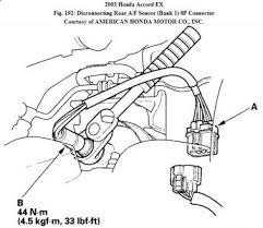 2003 honda accord cannot decouple the o2 sensor coupling