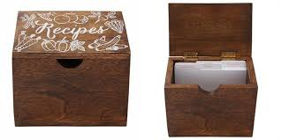 wooden recipe box by eccolo recipe boxes gifts chapters indigo ca