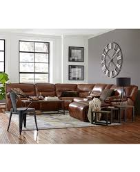beckett leather power reclining sectional sofa collection created