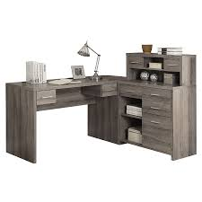 Modern Desk Set Jordi Gray Washed Modern Desk Set Eurway Furniture