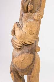 or haitian wood carving child