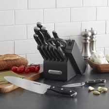 farberware kitchen knives farberware edgekeeper 15 piece forged triple riveted knife set