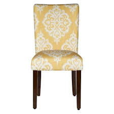 Parson Dining Chair Parson Dining Chair Wood Damask Yellow Set Of 2 Homepop Target