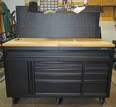 workbench with pegboard and light review husky 60 mobile workbench with sliding pegboard