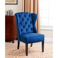 Blue Wingback Chair Design Ideas Navy Blue Leather Dining Chairs Simple Dining Chairs Gorgeous