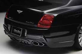 black bentley sedan wald bentley continental flying spur black bison edition picture