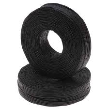 knotting cord waxed linen necklace or knotting cord 1mm black 50 yards