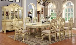 Dining Room Chairs White Von Furniture Versailles Large Formal Dining Room Set In White