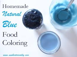 homemade natural blue food coloring with red cabbage dessert and