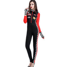 Halloween Jumpsuit Costumes Aliexpress Buy Women Spandex Racer Car Jumpsuit Costume