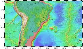 Topographic Map Usa by Map Of South America Topographic Map Worldofmapsnet Online Maps