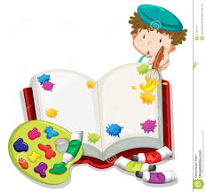 painting book a boy painting a book stock vector image of gentleman