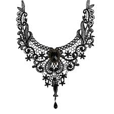 gothic collar necklace images Gothic vintage lace collar necklace ace gems jpg