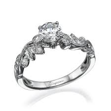 leaf engagement ring white gold engagement ring with diamonds for women leaves