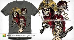vector t shirt design with skull gun and t shirt