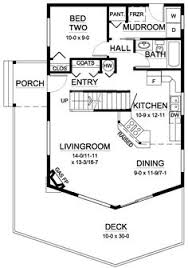 2 bedroom with loft house plans floor plan of a frame vacation house plan 99961