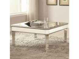 coaster 70393 mirrored coffee table miskelly furniture