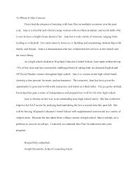 College Letter Of Recommendation From A Family Friend high school recommendation letter testimonial sle for secondary