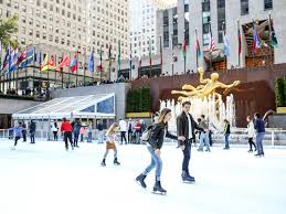 the rock center rink opens front center at rockefeller center