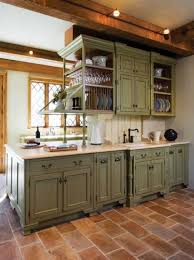 country kitchen ideas green cabinet design for traditional country kitchen ideas