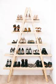 55 cool and practical home decor hacks you should try 2 turn a ladder into a shoe rack