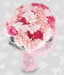 carnation bouquet dozen of pink and carnations