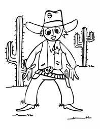cowboy coloring pages pixelpictart com
