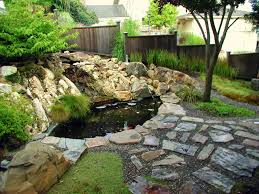 outdoor and patio small backyard pond ideas combined with