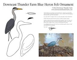 blue heron ornament pattern stuffed animal pattern how to make a