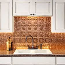 Kitchen Metal Backsplash Ideas by Fasade Traditional Style 1 Polished Copper Backsplash 18 Inch X