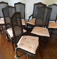 set of eight louis xv style cane back dining chairs ebth