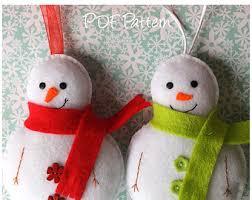 set of 2 felt ornament patterns santa owl and