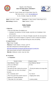 sample lesson plan format elipalteco