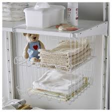 storage shelves with baskets observatör clip on basket grey brown ikea