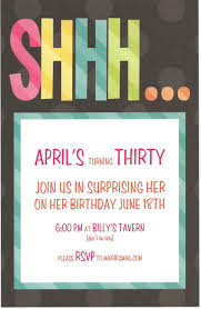 surprise birthday party invitation wording for adults choice image