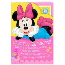 Minnie Mouse Easter Stickers Minnie Mouse Easter Card For With Stickers Greeting Cards